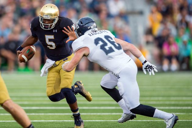 Rice vs. Notre Dame: Game Grades, Analysis for Fighting Irish