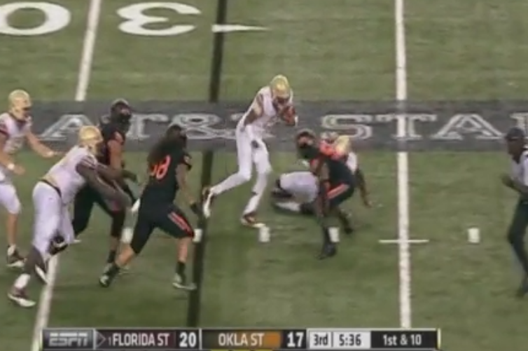 Jameis Winston Scrambles for Amazing Career-Long Rushing TD vs. Oklahoma State