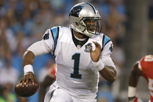 Cam Newton's Week 1 Medical, Fantasy Football Risk Due to Rib, Ankle Injuries