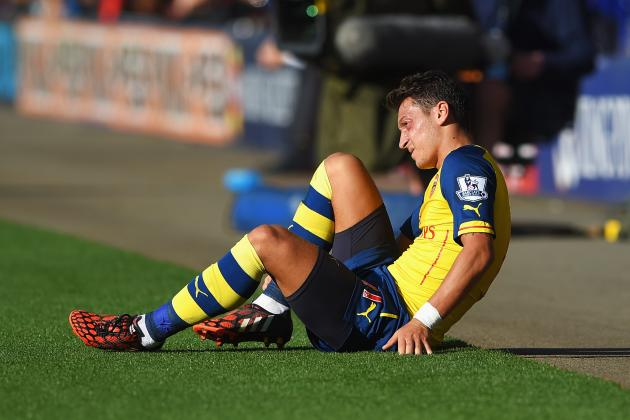 Mesut Ozil Injury: Updates on Arsenal Star's Ankle and Return