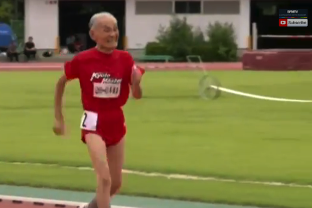 103-Year-Old 'Golden Bolt' Would Welcome a Race Against Usain Bolt