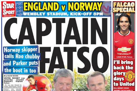 UK Back Pages: Captain Wayne Rooney's Weight the Topic of Conversation