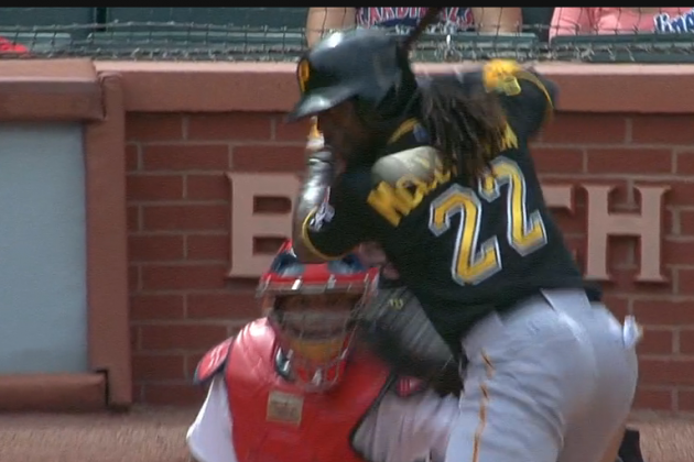 Video: Miller Throws Dart Behind McCutchen