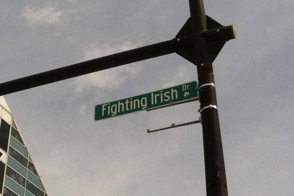 South Bend Changes Name of Michigan Street for Upcoming Fighting Irish Game