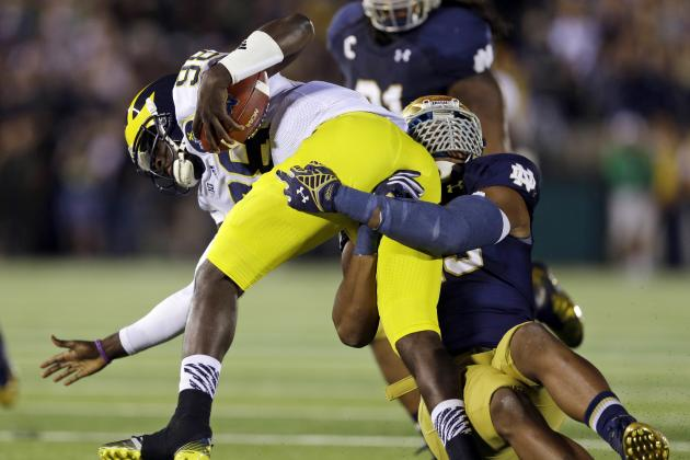 Michigan vs. Notre Dame: Game Grades for Wolverines and Fighting Irish