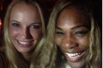 Serena and Wozniacki Party After US Open