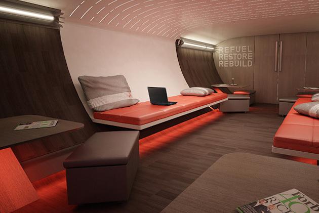 Nike helps design airplane interior focused on athlete for Airplane exterior design