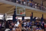 Shirtless Dunk Attempt Fails Miserably