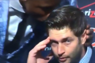 Brandon Marshall Gives Jay Cutler a Victory Smooch…