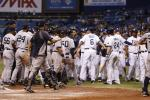 Benches Clear in Yanks-Rays Game After Jeter HBP