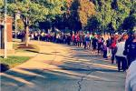 HUGE Line at Ray Rice Jersey Exchange