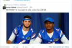 Gators' WR Takes a Shot at His Own QB on Twitter