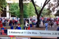 Ole Miss Fans Rush the Grove to Secure Tailgating…