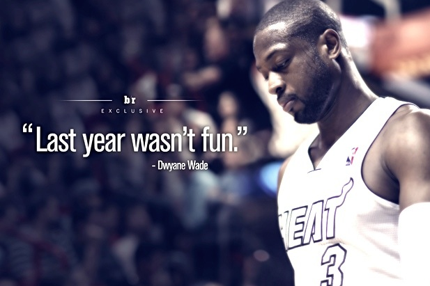 The exclusive d wade qa on why last year wasnt fun and life the exclusive d wade qa on why last year wasnt fun and life after lebron bleacher report voltagebd Gallery