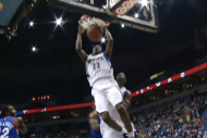 Ricky Rubio Finds Andrew Wiggins for the Alley-Oop…