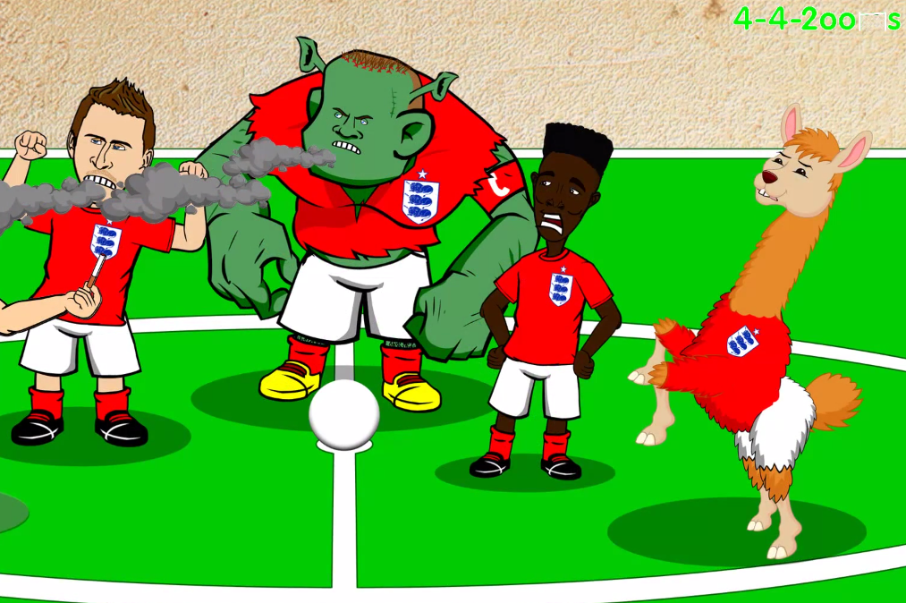 Wayne Rooney Ogre Wayne The Ogre Rooney the Hero in New Cartoon Celebrating England s