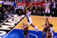 Aaron Gordon Slams Absurd 2-Handed Dunk over Flame…