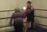 Elderly Man Destroys Young Opponent in Boxing Ring
