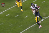 Steelers' Antonio Brown Throws Touchdown on Revers…