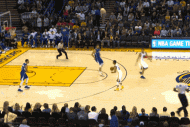 Matt Barnes' Inbounds Pass Goes to Stephen Curry,…