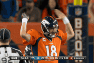 Peyton Manning Gets Mad Trying to Quiet Broncos Fa…