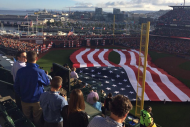 American Flag Features Giant Hole During World Ser…