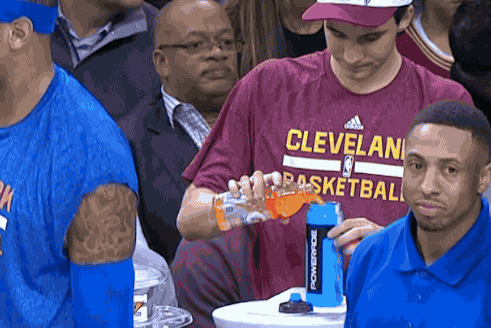 Cavaliers Water Boy Caught Filling Powerade Bottle with Gatorade