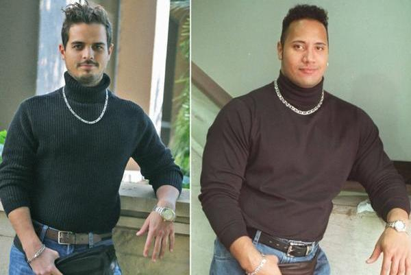 People Dress As Dwayne The Rock Johnson With Fanny Pack