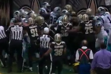 Saints Take Offense to Cam Newton's 'Superman' Celebration, Fight Breaks Out