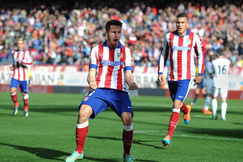 Madrid Spain NovemberSaul Diges Of Club Atletico De Madrid Celebrates After
