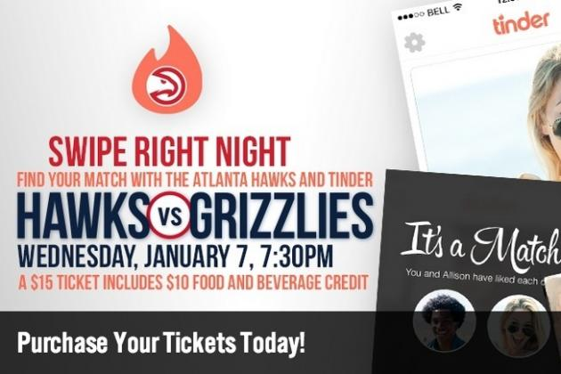Atlanta Hawks to Host Tinder Dating Night for Fans