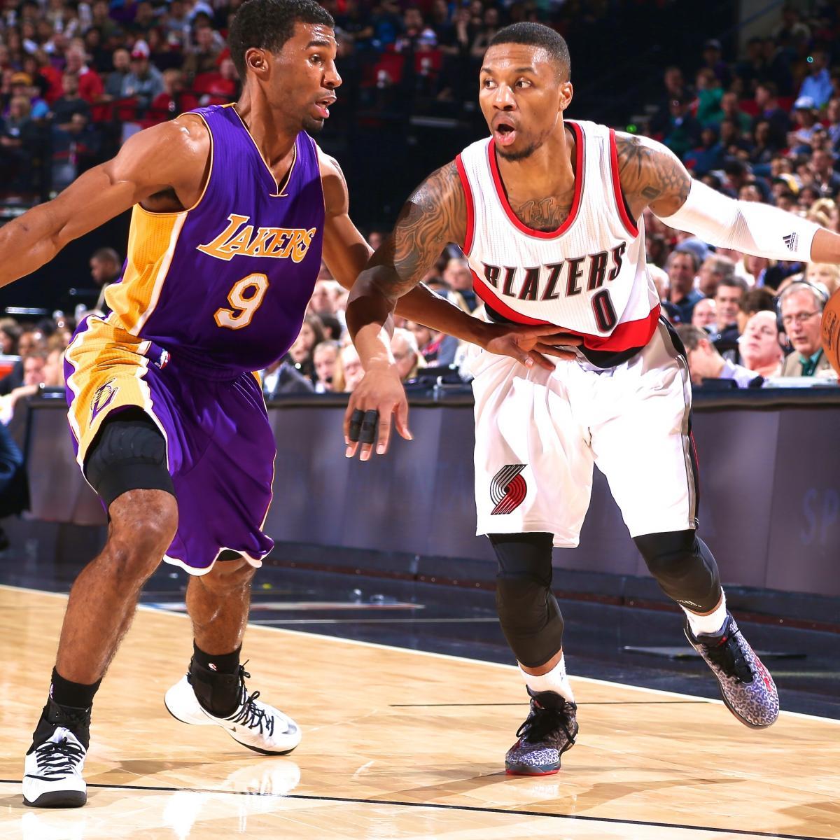 Portland Blazers Live Score: Los Angeles Lakers Vs. Portland Trail Blazers: Live Score