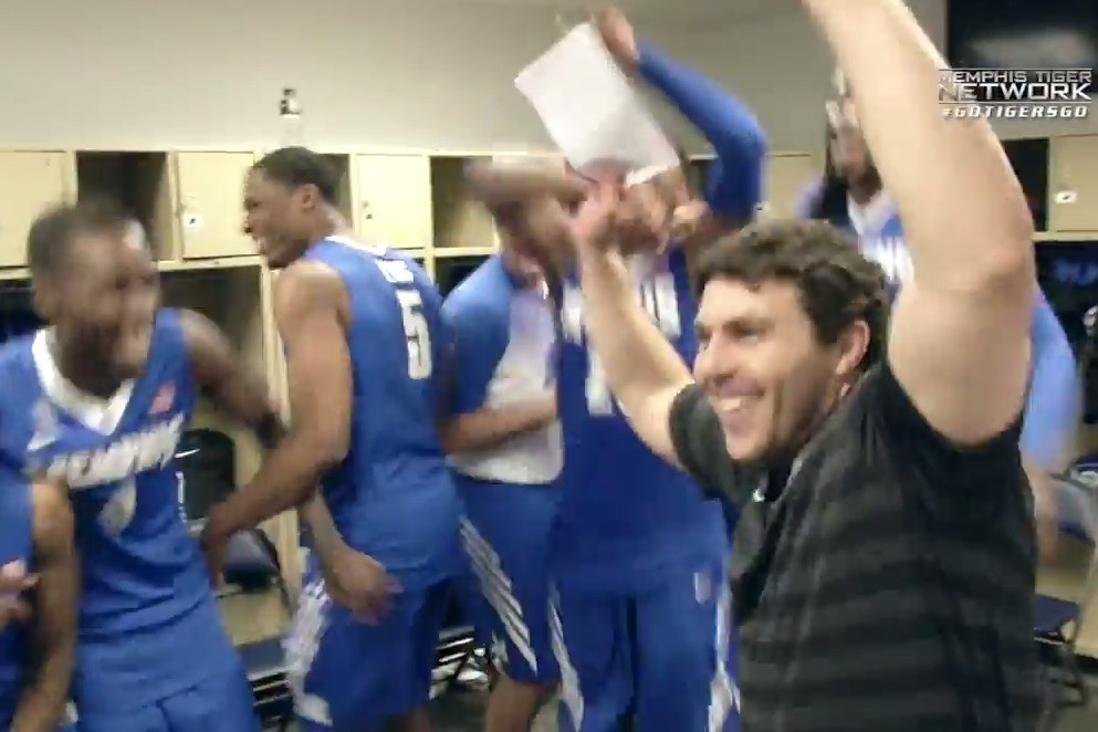 memphis basketball head coach attempts the 39 whip dance. Black Bedroom Furniture Sets. Home Design Ideas
