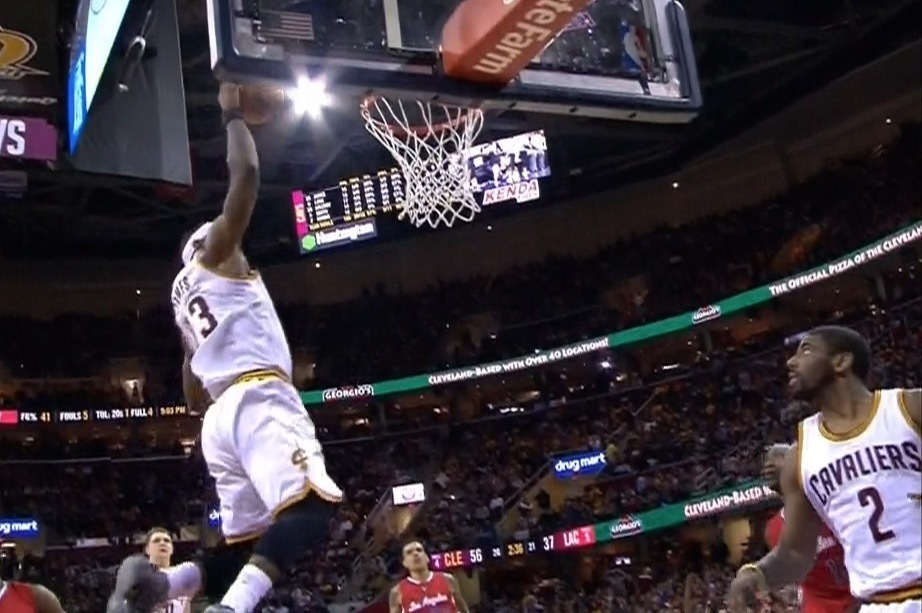 LeBron James & Kyrie Irving Run Fast Break, Alley-Oop to ...