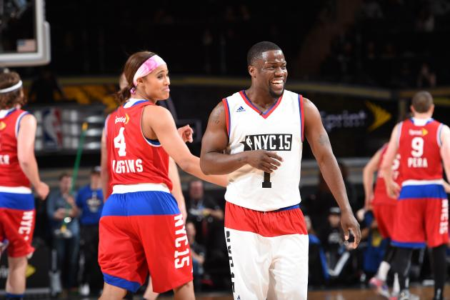 NBA All Star Celebrity Game: Team Lakers vs Team Clippers ...