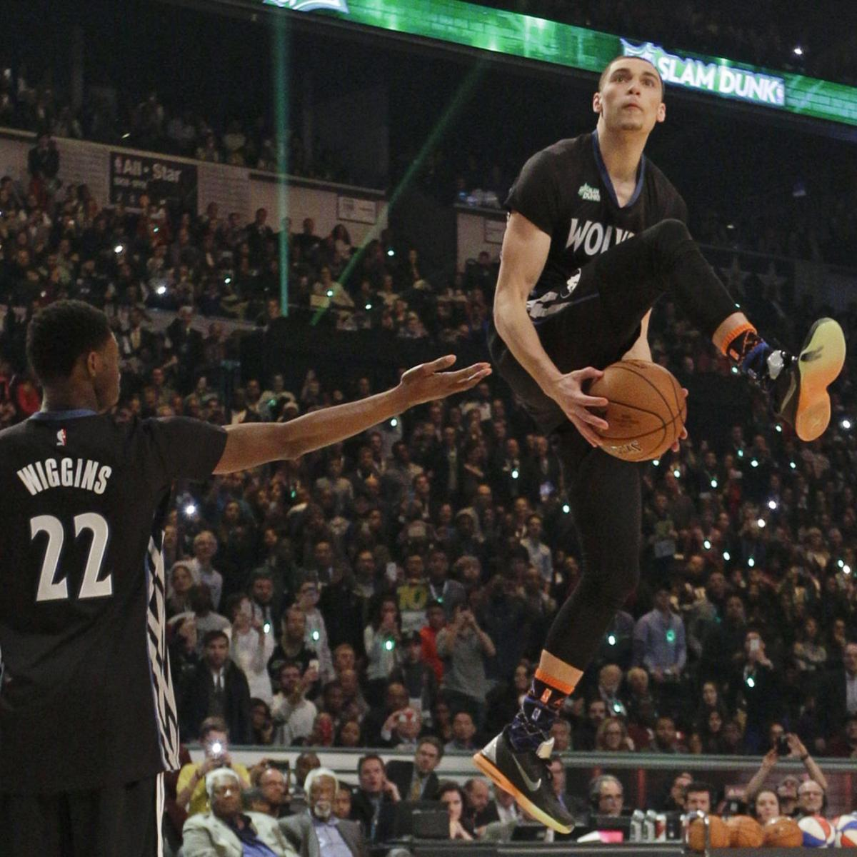 Zach LaVine Wins 2015 NBA Slam Dunk Contest: Scores