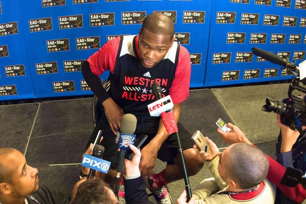 Kevin Durant Comments on Relationship with Media at 2015 NBA All-Star Weekend