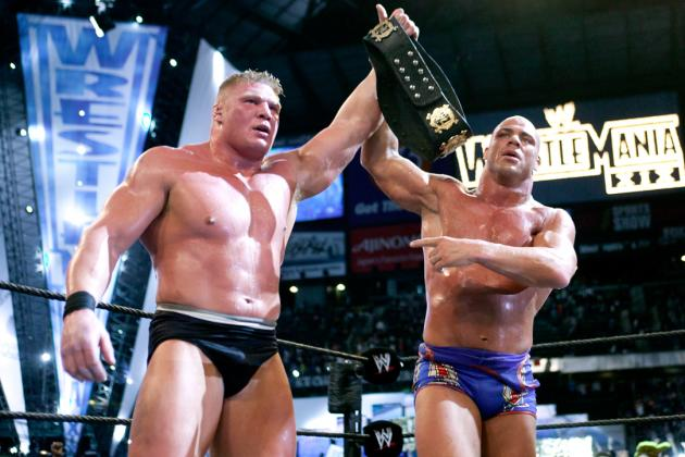 WWE Classic of the Week: Brock Lesnar vs. Kurt Angle from WrestleMania XIX