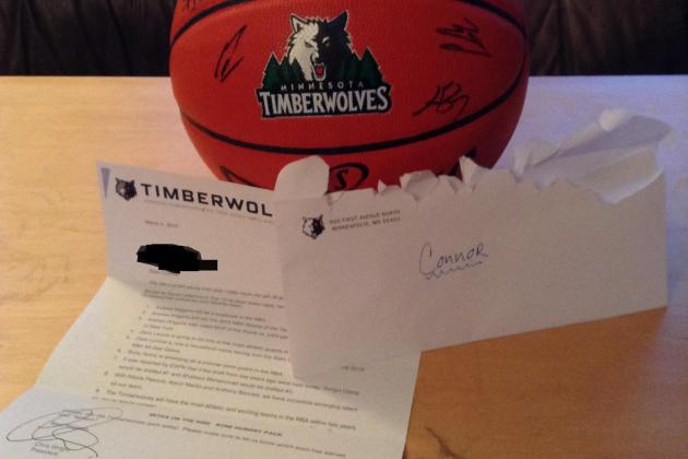16-Year-Old Fan Sends Letters to All 30 NBA Teams, Only Minnesota Responds