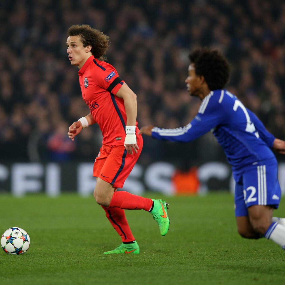 Brazilian Star Moves From Psg: David Luiz Injury: Updates On PSG Star's Hamstring And