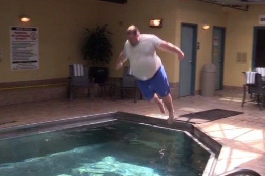 jared 39 the hefty lefty 39 lorenzen belly flops in pool at 2015 final four bleacher report