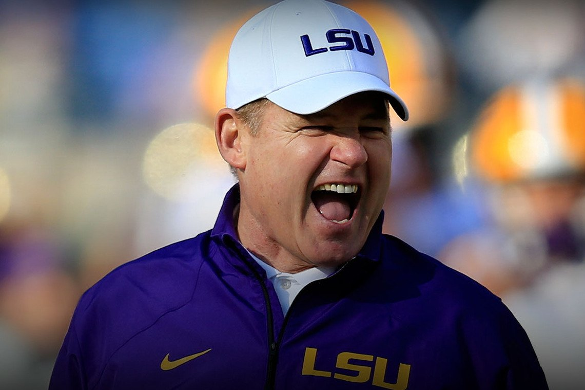is lsu head coach les miles really on the hot seat in 2015 bleacher report. Black Bedroom Furniture Sets. Home Design Ideas