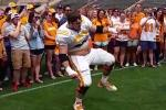 Vols OL Kills the 'Whip Dance' at Student Practice