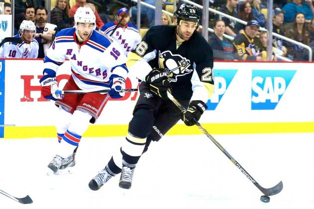 As the NHL's best regular-season team in 2014-15, the New York Rangers  started off strong but needed to hang on to preserve a 2-1 win over the  Pittsburgh ...