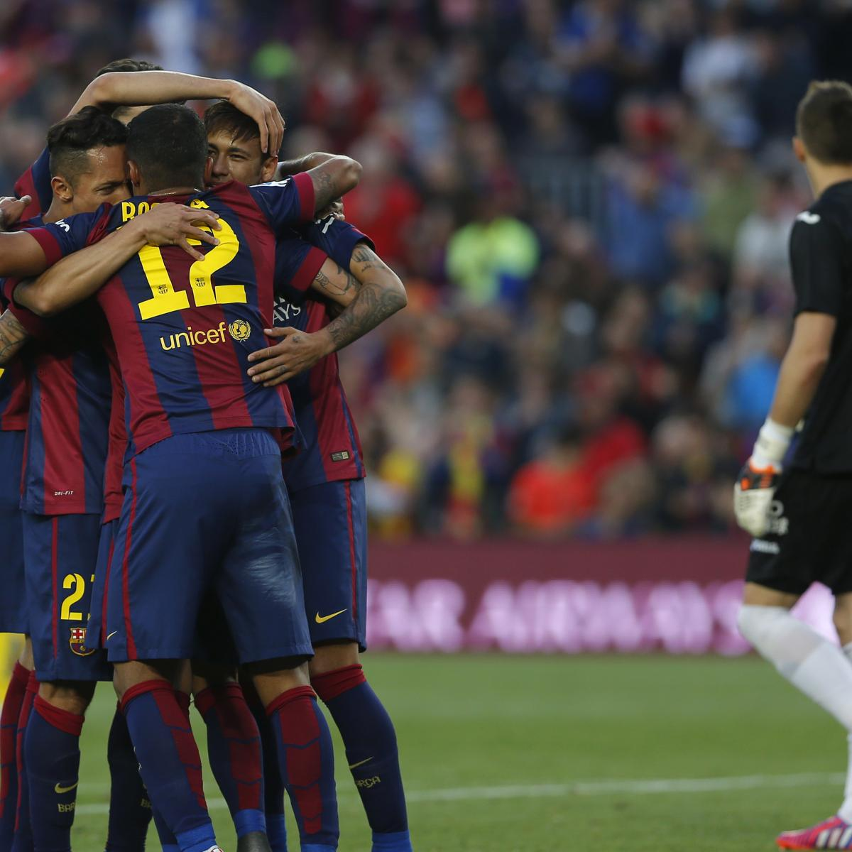 La liga table 2015 updated standings following matchday 35 results bleacher report latest - La liga latest results and table ...