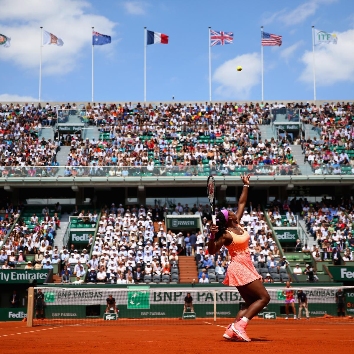 french open 2015 thursday roland garros schedule and bracket predictions bleacher report. Black Bedroom Furniture Sets. Home Design Ideas