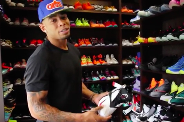 Joe Haden Gives A Tour Of His New Shoe Closet And Massive Collection