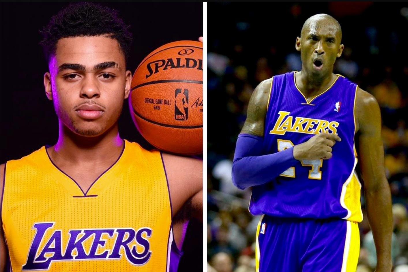a02b5b51143688 Lakers Rookie D Angelo Russell Calls Kobe Bryant  His Michael Jordan   Bleacher Report Los Angeles Lakers rookie D Angelo Russell was born in  1996—or in ...