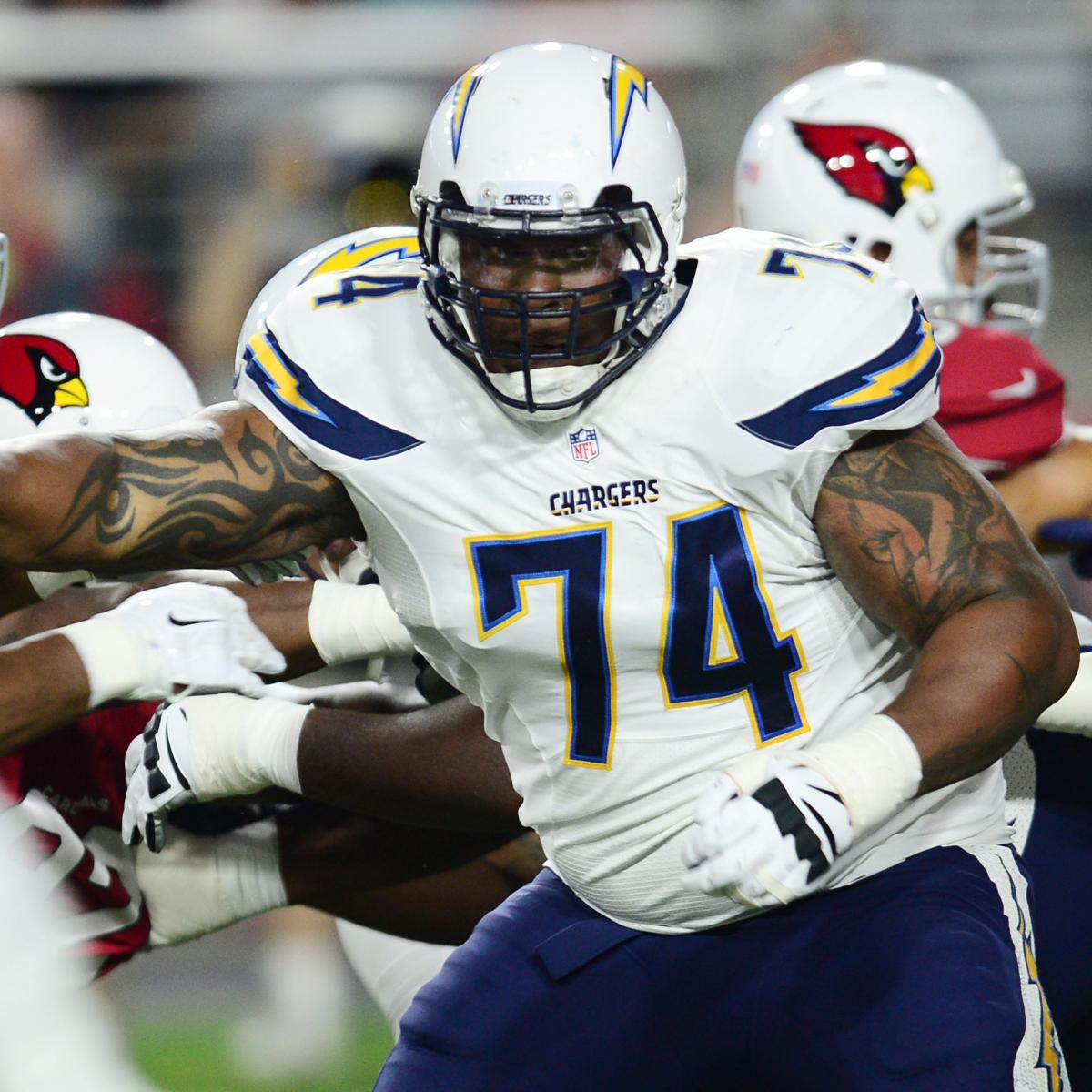San Diego Chargers Football Team: Orlando Franklin Injury: Updates On Chargers OG's Ankle
