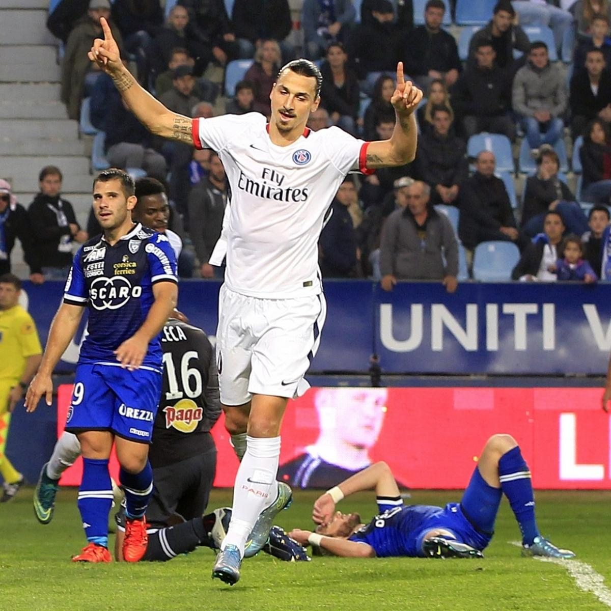 Bastia 0 3 Psg Match Report: Zlatan Ibrahimovic Leads Insipid PSG Past Bastia Ahead Of
